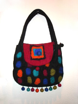 Tibet felted wool bag