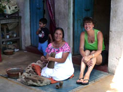 Sharon Platnik Levy with Josefina Aguilar in Oaxaca, Mexico